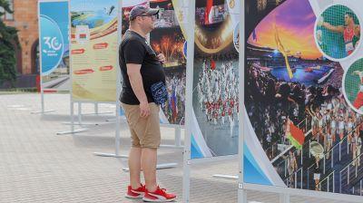 """Фотовыставка """"НОК Беларуси - 30 лет. Истории наших побед"""" открылась в Минске"""