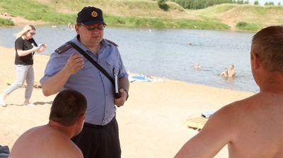 Милиция усилила контроль за местами отдыха у воды в Могилеве