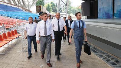 Петришенко посетил Летний амфитеатр в Витебске