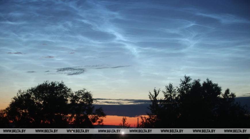 Серебристые облака наблюдались в небе Беларуси