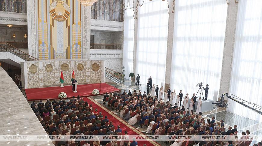 Лукашенко открыл Республиканский бал выпускников