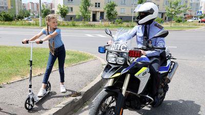 Мотопатрули ГАИ несут службу на улицах Витебска