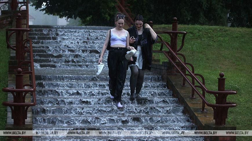 Сильный ливень прошел в Гродно