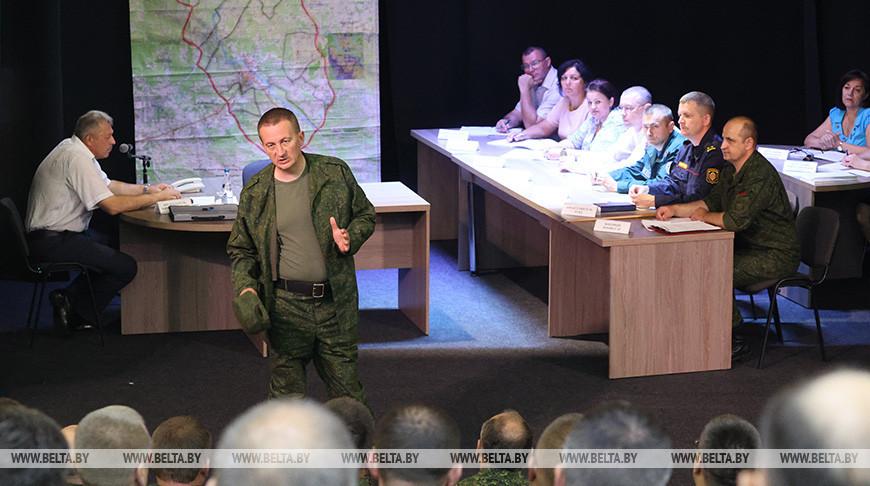 Территориальные войска отработали практические навыки в Борисовском районе