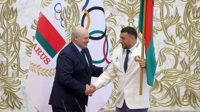 Лукашенко принял участие в торжественных проводах белорусской спортивной делегации на XXXII летние Олимпийские игры