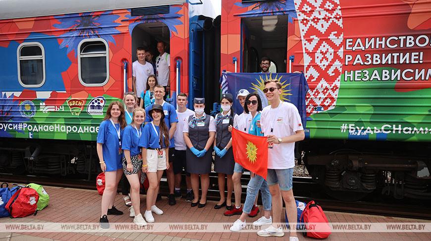 Маршрут Республиканского молодежного поезда #БеларусьМолодежьЕдинство составит около 2 тыс. км