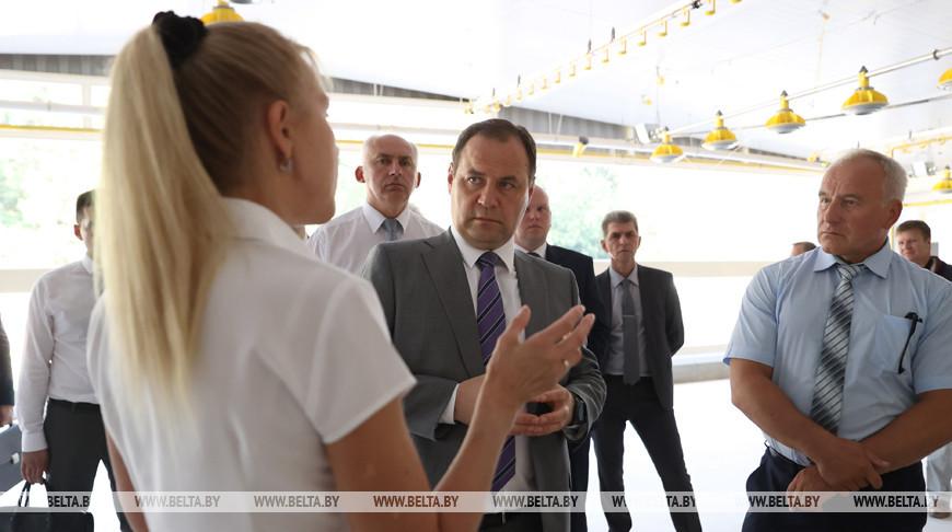 Головченко посетил Витебскую бройлерную птицефабрику