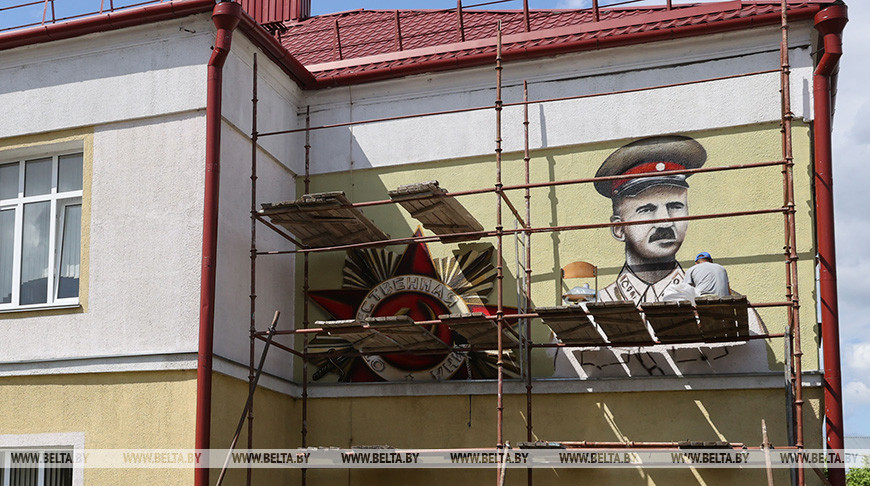 Мурал с изображением генерала Петровского создают в Жлобине