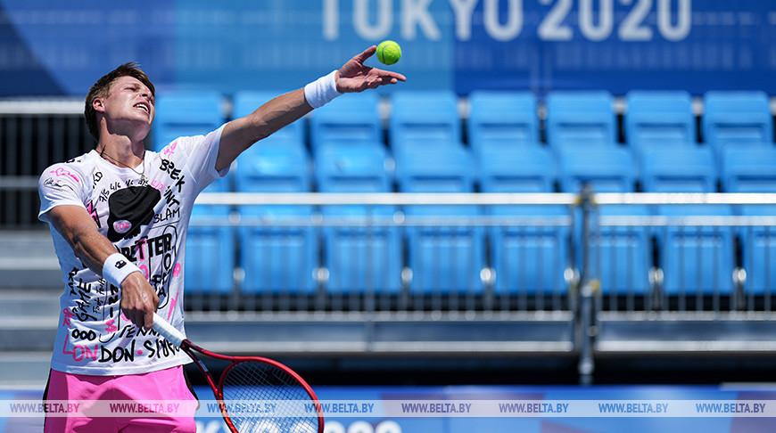Белорусские теннисисты провели первую тренировку в Токио