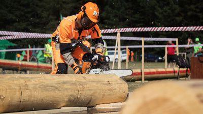Областные соревнования вальщиков леса прошли в Крупском районе