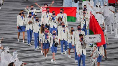 Белорусская делегация на церемонии открытия Олимпиады