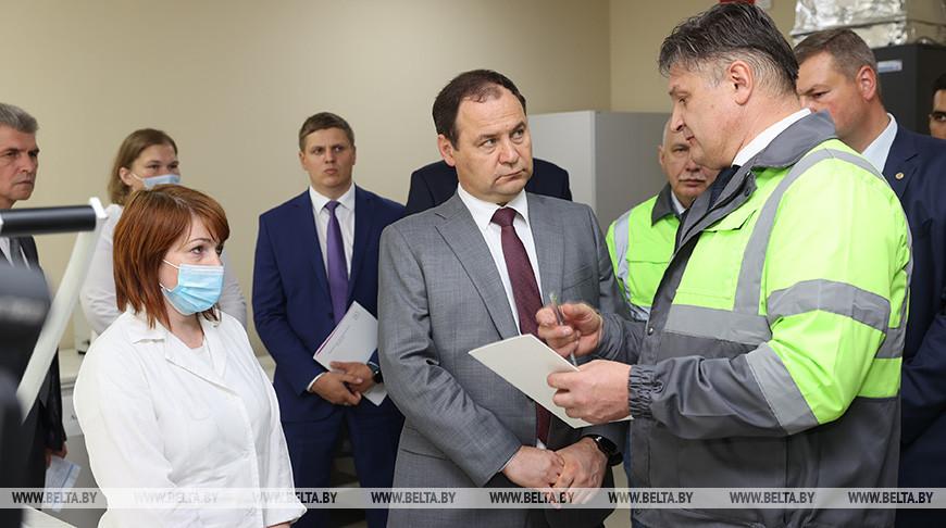 Головченко посетил Светлогорский целлюлозно-картонный комбинат