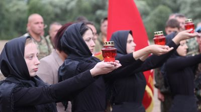 В Витебском районе в братской могиле перезахоронили останки более 80 солдат