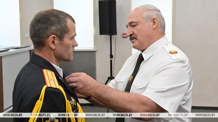 Президент Беларуси Александр Лукашенко наградил силовиков из разных ведомств