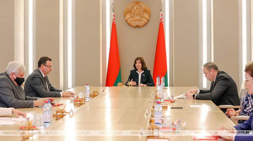 Кочанова встретилась с представителями медучреждений, медуниверситетов и Минздрава