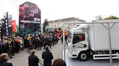 Новый грузовик МАЗ представили на празднике в честь Дня машиностроителя в Минске