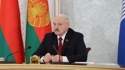 Лукашенко принял участие в онлайн-саммите СНГ