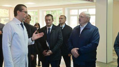 Лукашенко посетил Минскую областную клиническую больницу