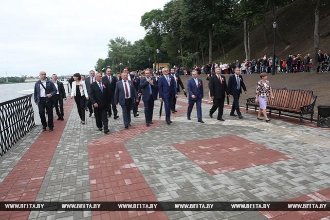 В Гомеле после реконструкции открыта северная часть набережной реки Сож