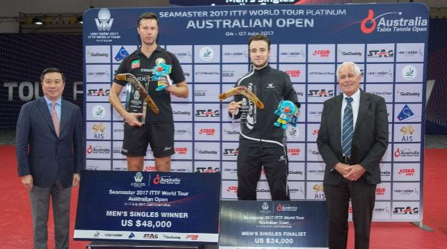 Владимир Самсонов стал победителем чемпионата Австралии по настольному теннису