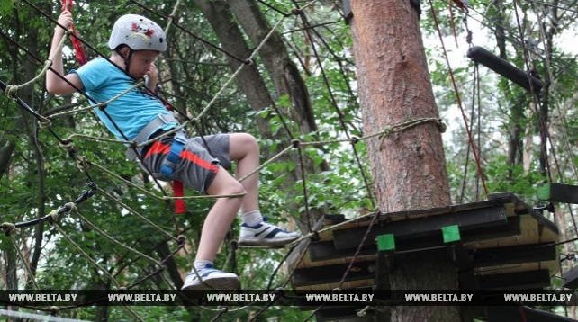 В Гомеле открыли веревочный парк