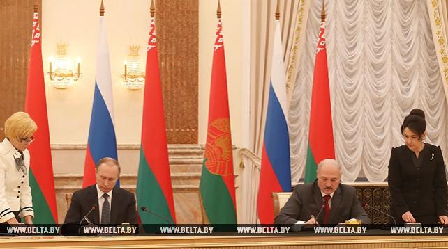 Лукашенко и Путин утвердили перечень решений по итогам Высшего госсовета