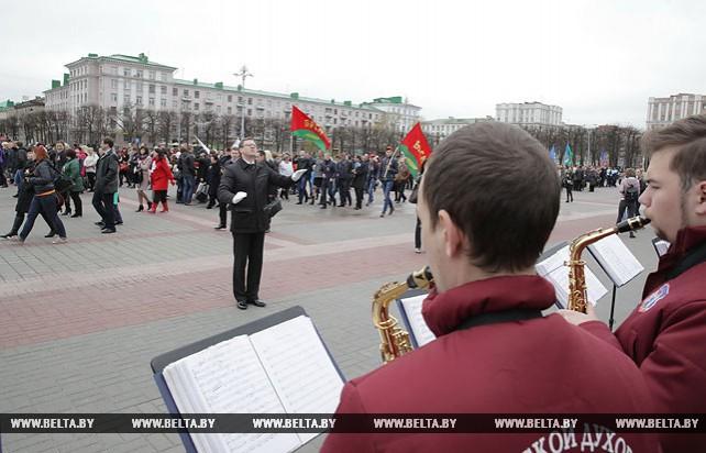 Праздничный митинг прошел в Могилеве