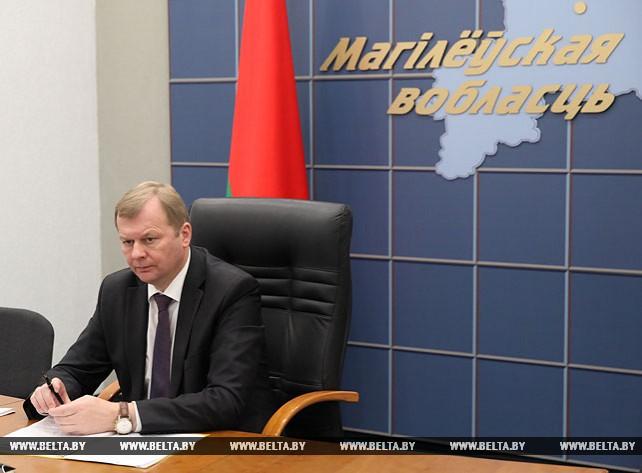 Доманевский принял участие в республиканском селекторном совещании по вопросам уборки урожая в 2017 году