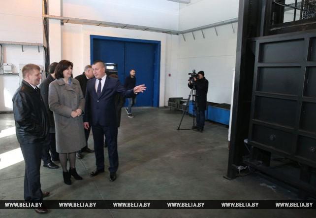 """Кочанова посетила завод """"Ветразь"""" в Докшицком районе"""