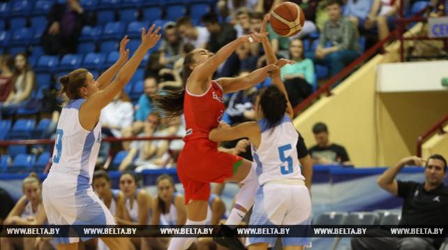 Женская сборная Беларуси по баскетболу уступила Аргентине на турнире памяти Семена Халипского