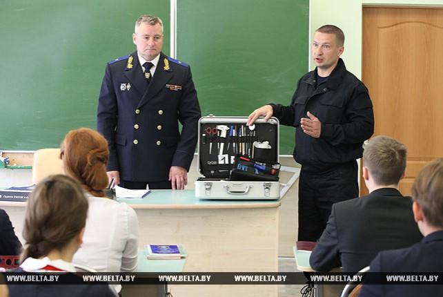 Первый урок в профильном классе Следственного комитета прошел в витебской гимназии №8