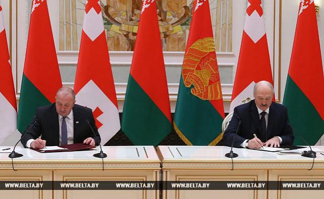 Лукашенко и Маргвелашвили подтвердили заинтересованность своих стран в укреплении сотрудничества