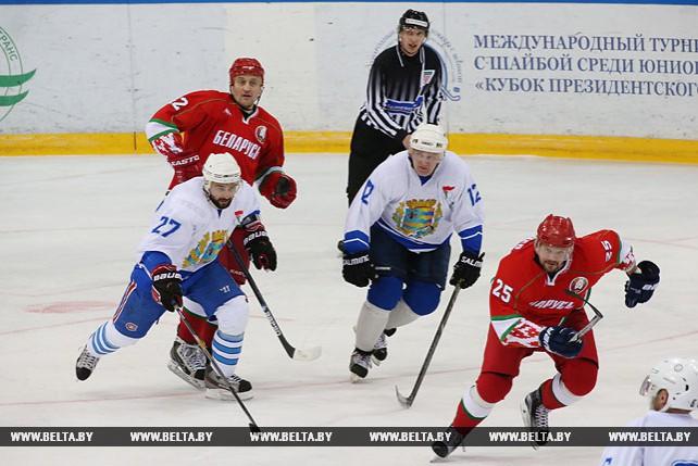 Команда Президента выиграла первый финальный матч Х турнира любителей хоккея