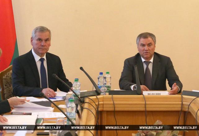 Руководство Парламентского собрания обсуждает в Минске актуальные вопросы строительства Союзного государства