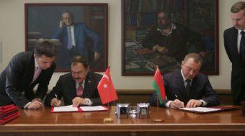 Беларусь и Турция подписали семь документов по итогам заседания межправкомиссии в Минске