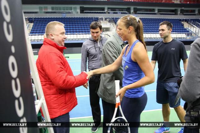 Белорусские теннисистки готовятся к полуфиналу Кубка Федерации