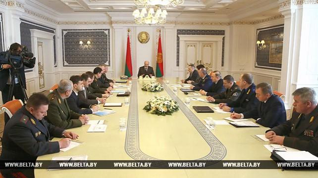 Лукашенко провел совещание по вопросам обеспечения общественной безопасности