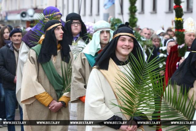 Гродненские католики празднуют Пальмовое воскресенье