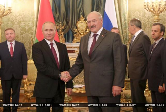Александр Лукашенко встретился с Владимиром Путиным
