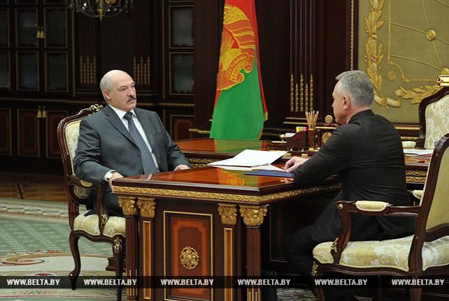 Лукашенко встретился с председателем ФПБ Михаилом Ордой