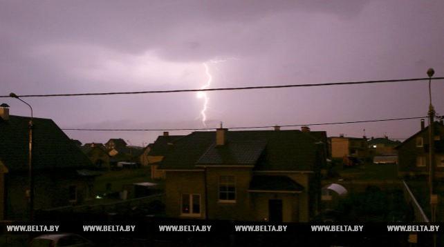 Дожди и грозы прошли в Гродненской области
