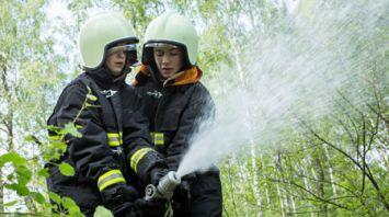 В Кобринском районе проходит слет юных спасателей-пожарных Брестской области