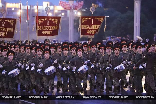 Тренировка парада прошла в Минске