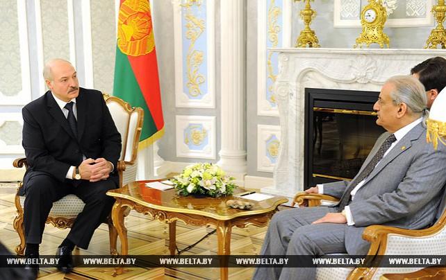 Лукашенко встретился с председателем сената парламента Пакистана
