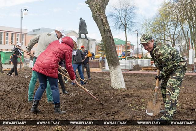 Руководство Гомельского облисполкома работало на благоустройстве Ветки