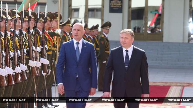Встреча премьер-министров Беларуси и Молдовы в узком составе состоялась в Минске