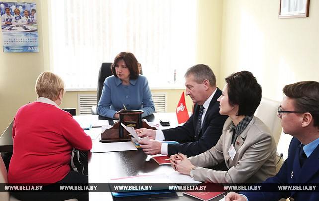 Кочанова провела выездной прием по вопросам реализации норм декрета №3