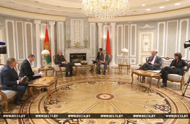 Лукашенко встретился с заместителем премьер-министра - министром иностранных и европейских дел Бельгии Дидье Рейндерсом