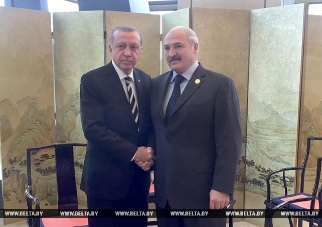 Лукашенко на полях саммита в Пекине встретился с Эрдоганом