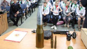 Эксперты проводят со школьниками беседы по предупреждению травматизма при обнаружении боеприпасов